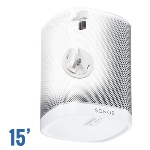In-Wall Power Solution and Speaker Mount for Sonos Play: 1 , White, 15' Jumper