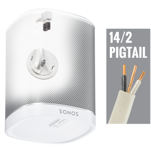 In-Wall Power Solution and Speaker Mount for Sonos Play: 1 , White, 15' Non-terminated WIP