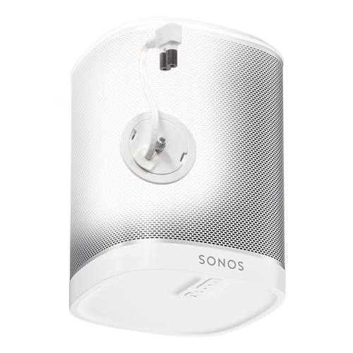 In-Wall Power Solution and Speaker Mount for Sonos Play: 1 , White, 8' Jumper