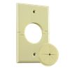 Single Gang Splitport™ with Grommet, Almond