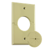 Single Gang Splitport™ with Grommet, Ivory