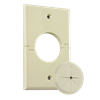 Single Gang Splitport™ with Grommet, Light Almond