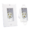 Single Gang Décor Recessed Power Inlet, White