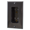Tamper Resistant Discreet Decor Recessed Outlet, Black