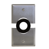 "Single Gang Split Stainless Steel Plate with rubber grommet and 1"" hole"